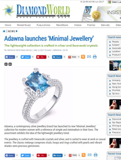 Adawna launches 'Minimal Jewellery'