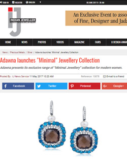 Adawna launches 'Minimal' Jewellery Collection