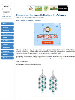 Chandelier Earrings Collection by Adwana