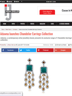 Adawna launches Chandelier Earrings Collection
